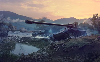 Grille 15, 4k, WoT, World of Tanks, chars, les chars allemands