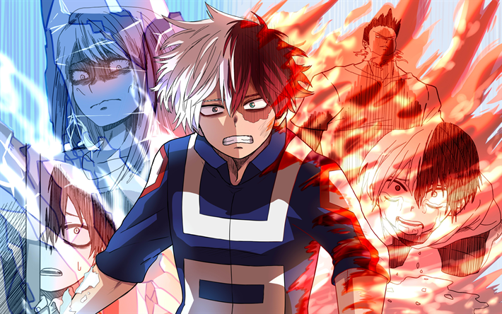 Download Wallpapers 4k Shoto Todoroki Art Manga My Hero Academia Boku No Hero Academia For Desktop Free Pictures For Desktop Free