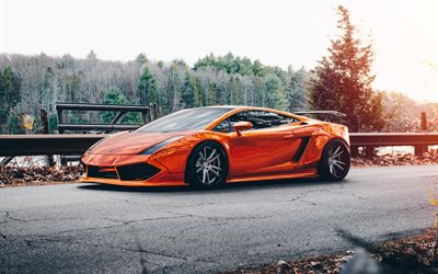 Lamborghini Gallardo, orange supercar, sports coupe, tuning Gallardo, Niche Wheels