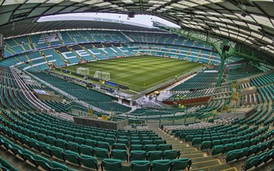 Celtic Park, 4k, HDR, stade de football, le Celtic stadium, un stade vide, Celtique Arena, le Celtic FC