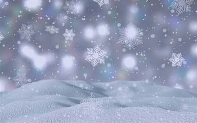 white winter background, snowflakes, snow, blur, background with snowflakes, winter texture