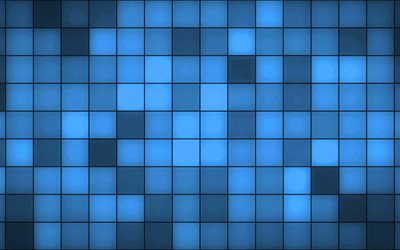 blue background with squares, blue abstraction, creative backgrounds, art, blue mosaic