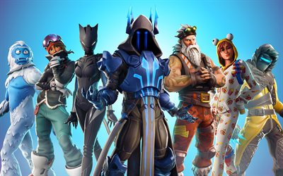 4k, Fortnite, personaggi, cast, Stagione 6, Oblio, 2018 giochi, guerrieri, Fortnite Battle Royale, Fortnite 4k