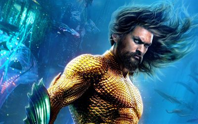 Aquaman, 2018, superhero, poster, promotional materials, new 2018 movies, Jason Momoa