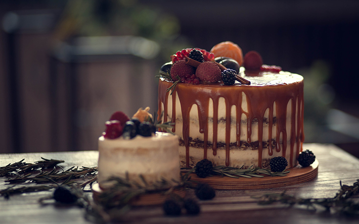 cake with chocolate cream, fruit cheesecake, berries, sweets, cakes