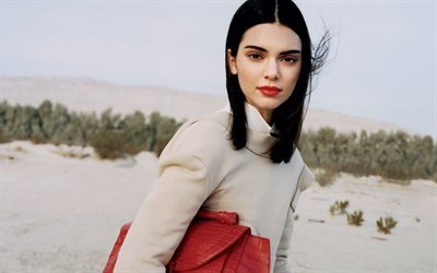 Kendall Jenner, desert, beauty, american actress, brunette