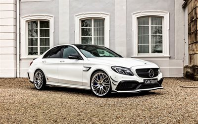 Mercedes-Benz C-Class, 2016, W205, Carlsson, white mercedes, tuning, sedan