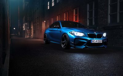 BMW M2, F87, night, 2016 cars, supercars, BMW