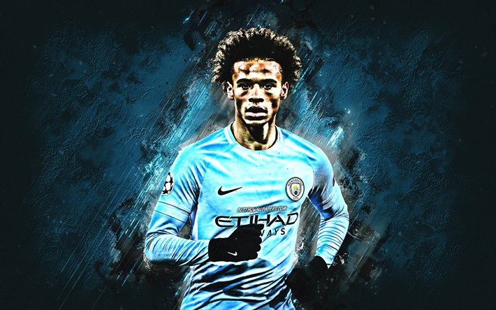 Download Wallpapers Leroy Sane, Manchester City FC