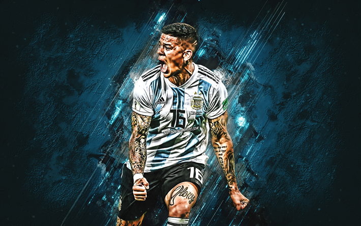 Download Wallpapers Marcos Rojo, Argentina National