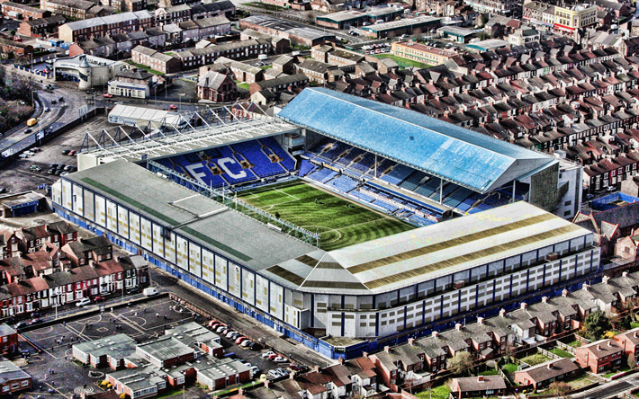 Download Wallpapers Goodison Park, Aerial View, Everton