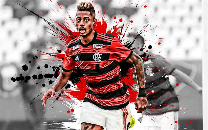 Download Wallpapers Bruno Henrique, 4k, Brazilian Football