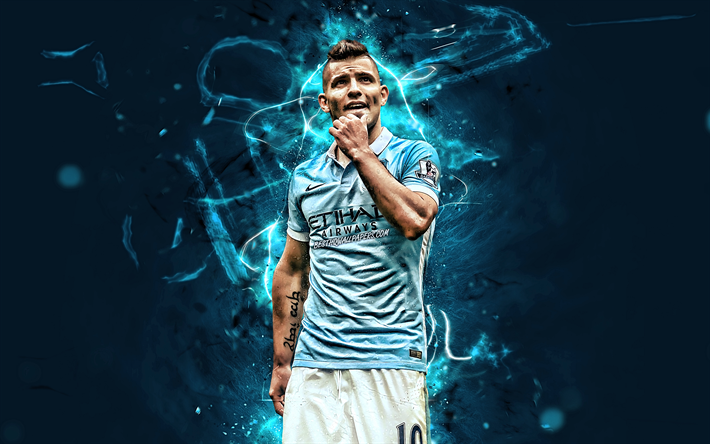 Kun Aguero Wallpaper Manchester City Fc: Download Wallpapers Sergio Aguero, Forward, Manchester
