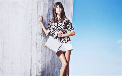 Alexa Chung, 2019, beauty, british models, girl with bag, woman with blue eyes, british celebrity, Alexa Chung photoshoot