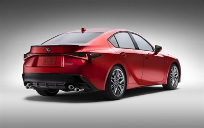 2022, Lexus IS, 500 F Sport Performance, 4k, side view, exterior, new red Lexus IS, japanese car, Lexus
