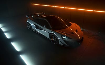 2021, Novitec McLaren 620R, front view, luxury hypercar, new gray, tuning 620R, new gray 620R, British supercars, McLaren