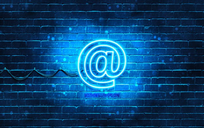 Contacts neon icon, 4k, blue background, neon symbols, Contacts, neon icons, Contacts sign, computer signs, Contacts icon, computer icons