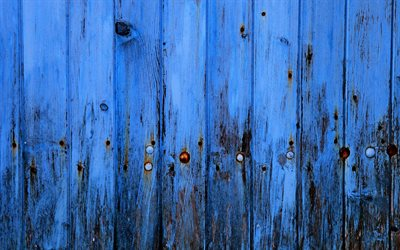 4k, blue wooden planks, macro, boards with nails, vertical wooden boards, wooden fence, blue wooden texture, wood planks, wooden textures, wooden backgrounds, blue wooden boards, wooden planks, blue backgrounds
