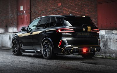 Manhart MHX5 800, 2021, 4k, BMW X5M, F95, exterior, rear view, new black X5, tuning X5, german cars, BMW