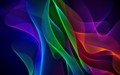 colorful abstract waves, artwork, colorful wavy background, abstract art, creative, abstract waves patterns, background with waves