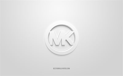 Michael Kors logo, white background, Michael Kors 3d logo, 3d art, Michael Kors, brands logo, white 3d Lotto logo