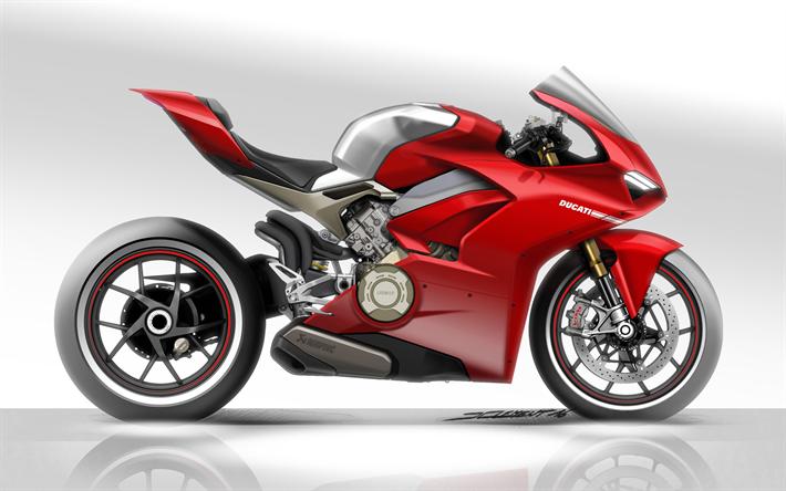 Download Imagens Ducati Panigale V4 Speciale Arte 2018 Motos