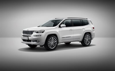 Jeep Grand Commander, 4k, crossovers, 2018 cars, studio, Grand Commander 2018, Jeep
