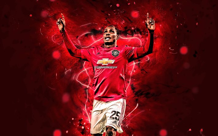 Download Wallpapers Odion Ighalo 2020 Manchester United Fc Nigerian Footballers Premier League Odion Jude Ighalo Neon Lights Soccer Football Man United For Desktop Free Pictures For Desktop Free