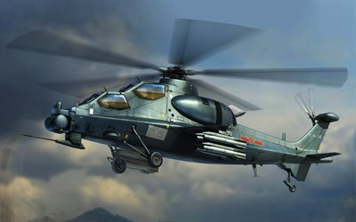 CAIC Z-10, attack helicopters, combat aircraft, Chinese Army, WZ-10, Chinese Air Force