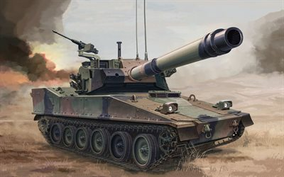 M8 Armored Gun System, M8, American light tank, military equipment, tanks, US Army, painted tank