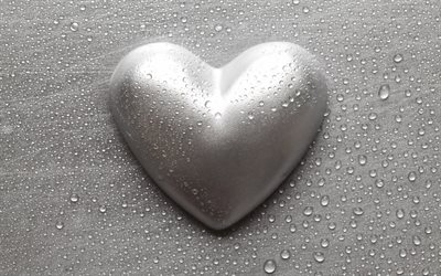 metal heart, steel heart, metal love background, silver heart, metal art, metal texture