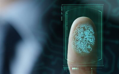 Fingerprint identification, digital fingerprint, safety concepts, security, personal identification
