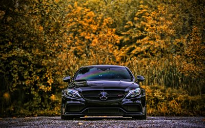 Mercedes-AMG C63s, front view, 2020 cars, W205, tuning, german cars, Mercedes-Benz