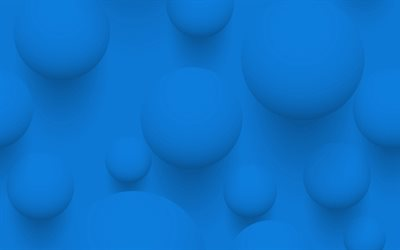 blue 3d balls, blue 3d background, balls blue background, 3d balls, blue background with balls