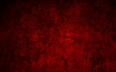 red stone background, 4k, stone textures, grunge backgrounds, stone wall, red backgrounds, red stone