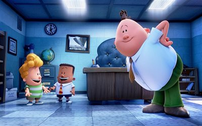 Captain Underpants, poster, 2017 movie, 3d-animation