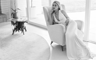 Nicola Peltz, Vogue, 2017, monochrome, Hollywood, beauty