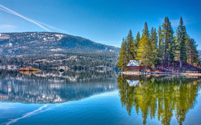 Red lake, HDR, America, Humboldt-Toiyabe National Forest, USA