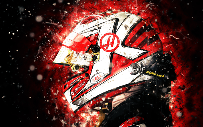 Download Wallpapers 4k Kevin Magnussen Abstract Art Formula 1 F1 Magnussen Haas 2018 Haas F1 Team Formula One Haas For Desktop Free Pictures For Desktop Free