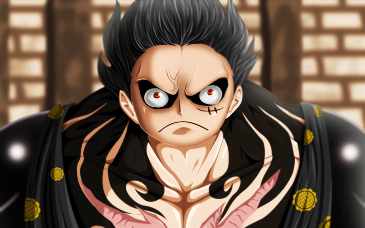 Download Wallpapers Monkey D Luffy Manga Gear Fourth Art One Piece For Desktop Free Pictures For Desktop Free