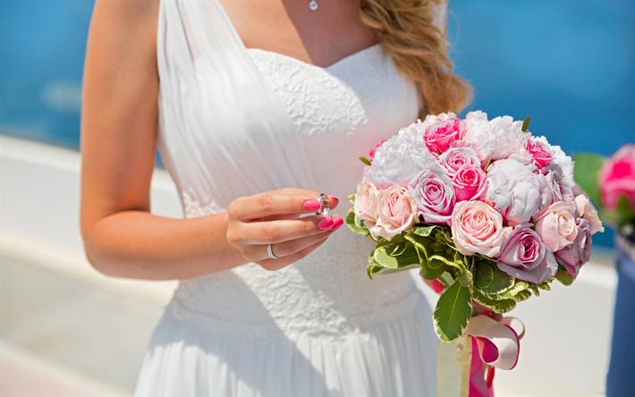 Download Wallpapers Bride Wedding Engagement Ring White Wedding
