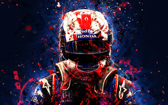 Download Wallpapers 4k Pierre Gasly Abstract Art Formula 1 F1 Toro Rosso 2018 Red Bull Toro Rosso Gasly Neon Lights Formula One Toro Rosso For Desktop Free Pictures For Desktop Free