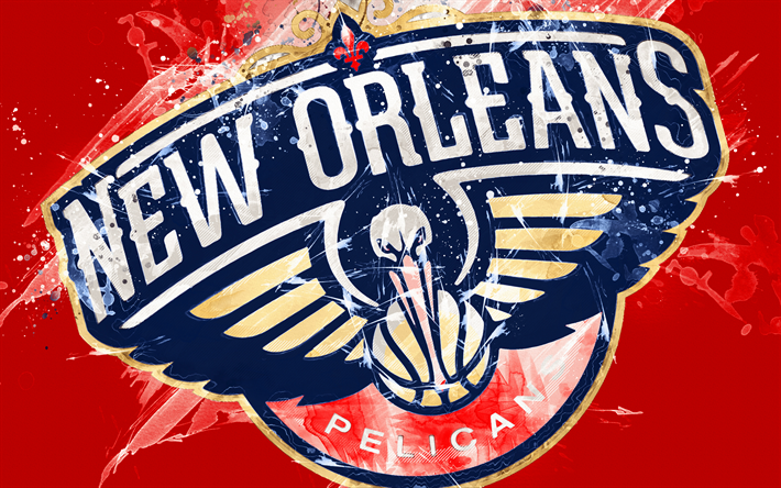 Download Wallpapers New Orleans Pelicans 4k Grunge Art
