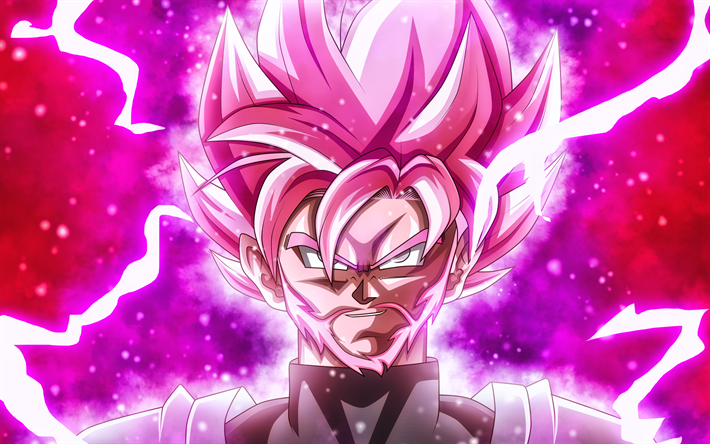 Download Wallpapers Super Saiyan Rose Lightnings Beard Dragon Ball Super Goku Black 4k Dbs Dragon Ball Ssr Black For Desktop Free Pictures For Desktop Free
