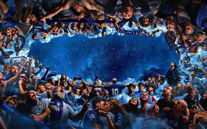 Download Wallpapers FC Internazionale, Fans, Art, Inter