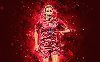 Allie Long, 2019, USA National Team, close-up, soccer, Alexandra Linsley Long, female soccer, footballers, neon lights, abstract art, American football team