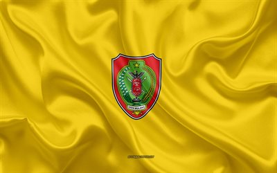 Flag of Central Kalimantan, 4k, silk flag, province of Indonesia, silk texture, Central Kalimantan flag, Indonesia, Central Kalimantan Province