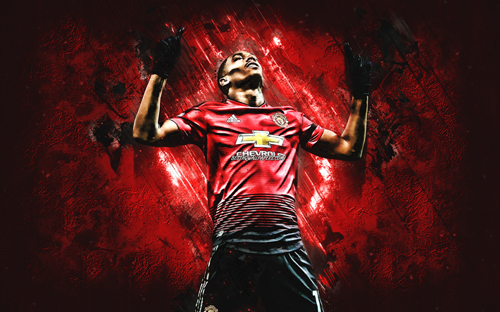 Download Wallpapers Anthony Martial, French Footballer