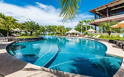 resort, pool, palm trees, summer trip, tropical islands, Nicoya Peninsula, Tamarindo, Hacienda Pinilla, Costa Rica