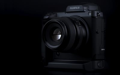 Fujifilm GFX 100, 4k, cameras, close-up, mirrorless digital cameras, Fujifilm